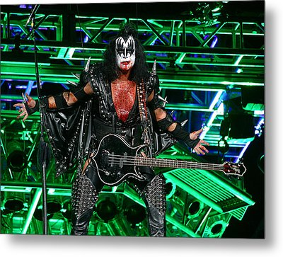 Metal Print featuring the photograph Gene Simmons - Kiss by Don Olea
