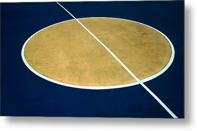 Geometry On The Basketball Court Metal Print by Gary Slawsky