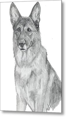 German Shepherd Metal Print by Lorah Buchanan