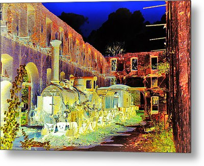 Ghost Train Metal Print by Chuck Staley