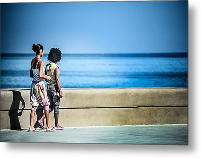 2 Girls On The Malecon Metal Print