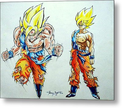 Goku In Action Metal Print by Tanmay Singh