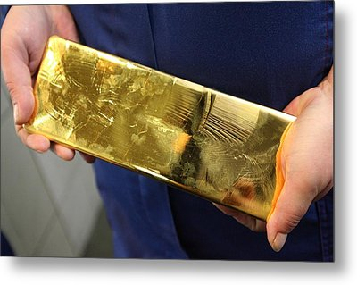 Gold Refinery Metal Print by Science Photo Library