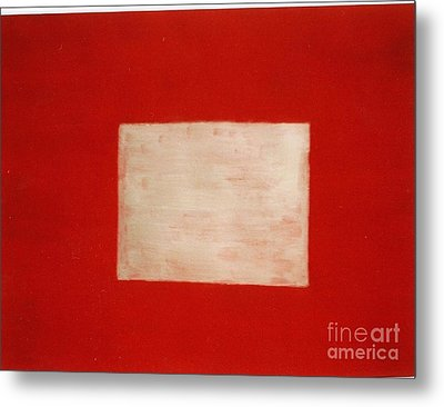 Metal Print featuring the painting Gold Square by Fereshteh Stoecklein