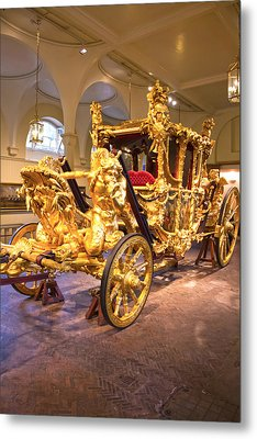 Gold State Coach Queen Elizabeth II Metal Print by David French