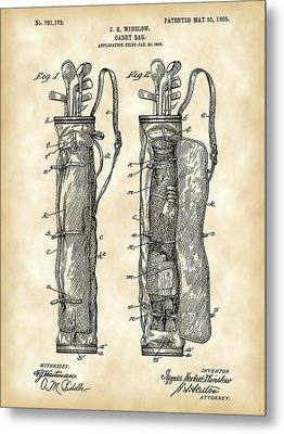 Golf Bag Patent 1905 - Vintage Metal Print