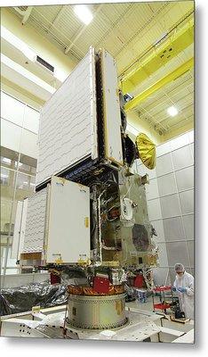 Gpm Rainfall Satellite Assembly Metal Print