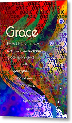 Metal Print featuring the digital art Grace by Chuck Mountain