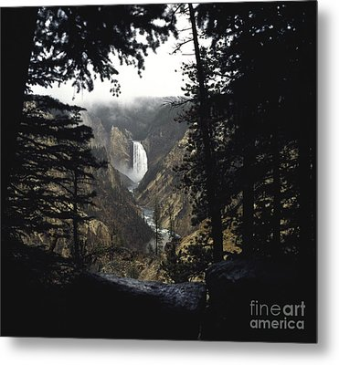 Grand Canyon Of The Yellowstone-signed Metal Print by J L Woody Wooden