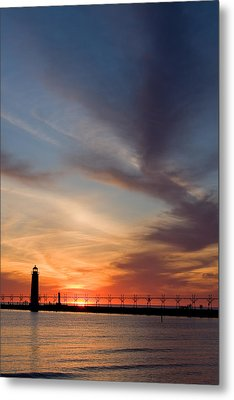 Grand Haven Lighthouse Metal Print by Adam Romanowicz