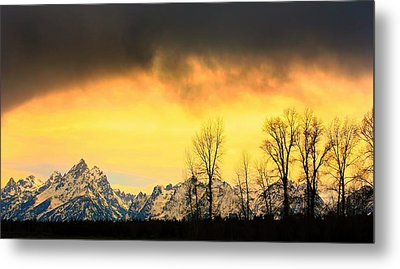 Metal Print featuring the photograph Grand Tetons Wyoming by Amanda Stadther