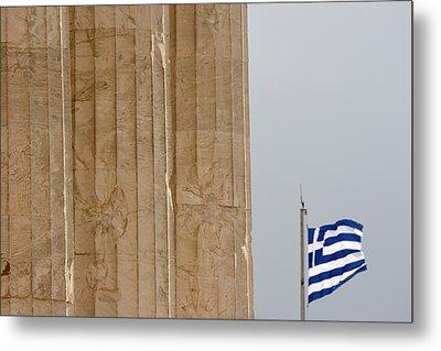 Greece, Athens, Acropolis Metal Print