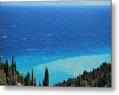 green and blue Erikousa Metal Print by George Katechis