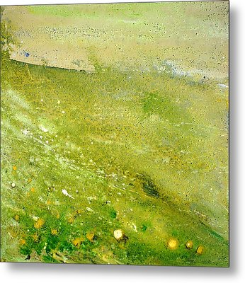 Green Field  Metal Print by Tanya Byrd