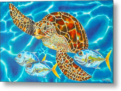 Green Sea Turtle Metal Print by Daniel Jean-Baptiste