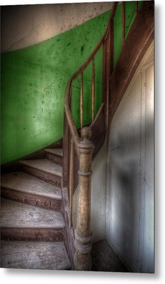 Green Stairs Metal Print by Nathan Wright