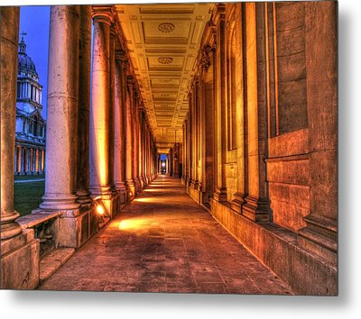 Greenwich Royal Naval College Hdr  Metal Print by David French