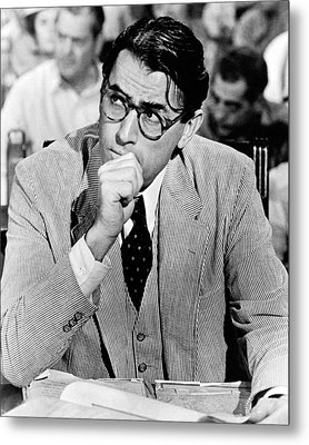 Gregory Peck In To Kill A Mockingbird  Metal Print by Silver Screen