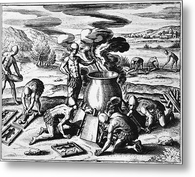 Guiana Gold Casting, 1599 Metal Print by Granger