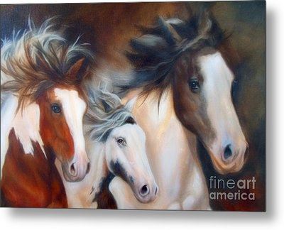 Metal Print featuring the painting Gypsy Run by Karen Kennedy Chatham