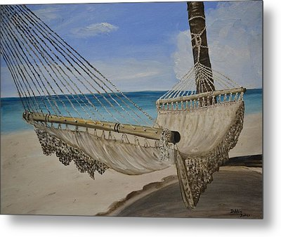 Metal Print featuring the painting Hammock by Debbie Baker