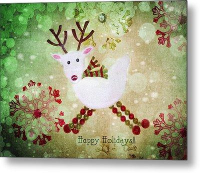 Happy Holidays Metal Print by Rebecca Cozart