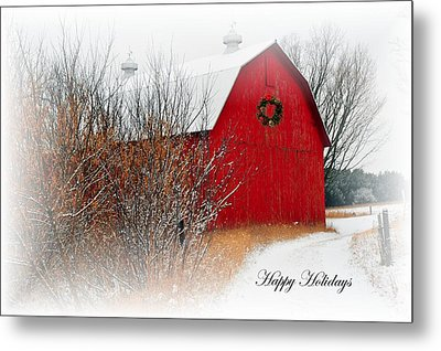 Metal Print featuring the photograph Happy Holidays by Terri Gostola