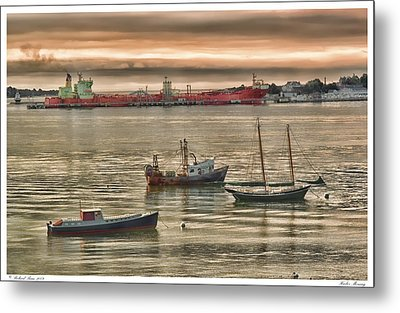 Metal Print featuring the photograph Harbor Morning by Richard Bean