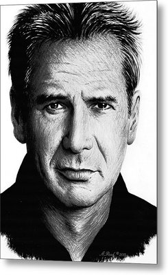 Harrison Ford Metal Print by Andrew Read