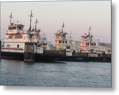 Hatteras Ferry  Metal Print by Cathy Lindsey