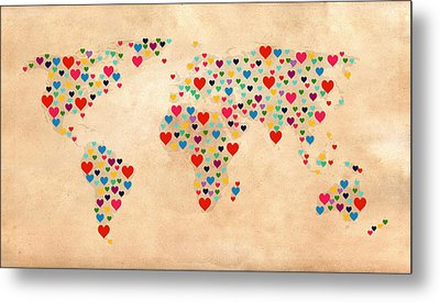 Heart Map  Metal Print by Mark Ashkenazi