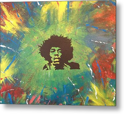 Metal Print featuring the painting Hendrix by Scott Wilmot
