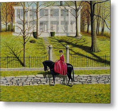 Her Favorite Horse Metal Print by Stacy C Bottoms
