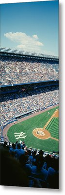 High Angle View Of Spectators Watching Metal Print by Panoramic Images