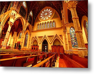Holy Name Cathedral Metal Print by Linda Edgecomb