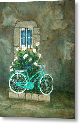 Home For Lunch In Rome Metal Print by Pamela Allegretto