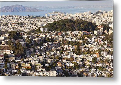 Homes Of San Francisco Metal Print by B Christopher