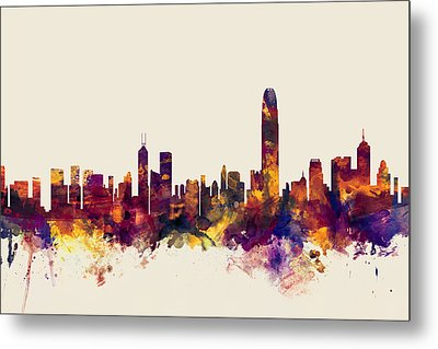 Hong Kong Skyline Metal Print by Michael Tompsett