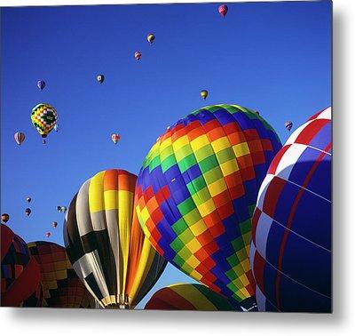 Hot Air Balloons Aloft Metal Print by Greg Probst