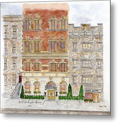 Hotel Washington Square Metal Print by AFineLyne