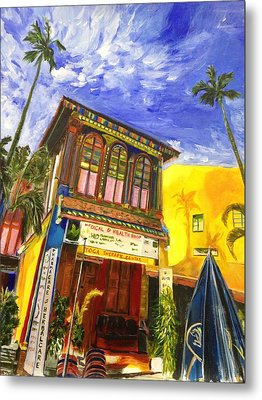 House Of The Rising Palms Metal Print by Belinda Low