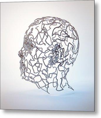Human Head Metal Print by Andrzej Wojcicki