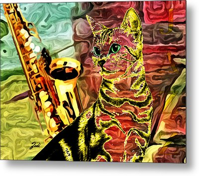 Jazz Metal Print by Ze  Di