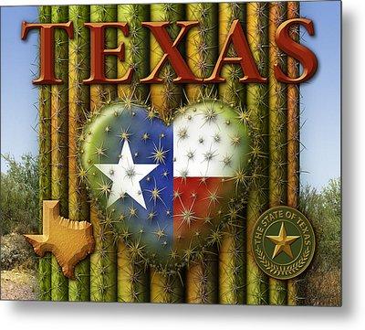 I Love Texas Metal Print by James Larkin