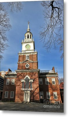 Independence Hall In Philadelphia Metal Print by Olivier Le Queinec