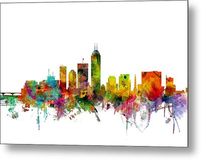 Indianapolis Indiana Skyline Metal Print by Michael Tompsett