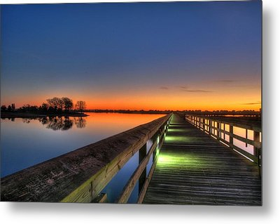 Inlet Sunrise Metal Print