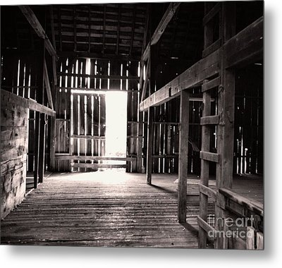 Metal Print featuring the photograph Inside An Old Barn by John S