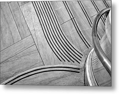 Intersection Of Lines And Curves Metal Print by Gary Slawsky