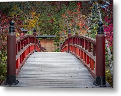 Japanese Bridge Metal Print by Sebastian Musial